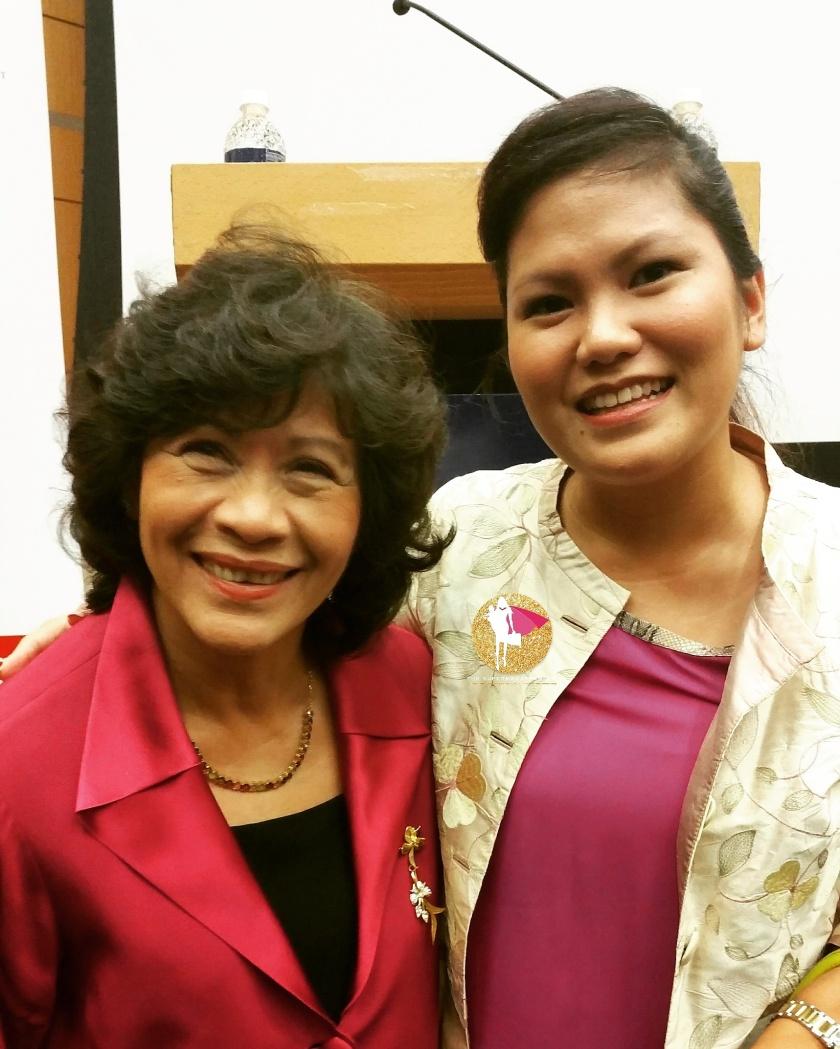 Dr Noeleen Heyzer and Lise Chew