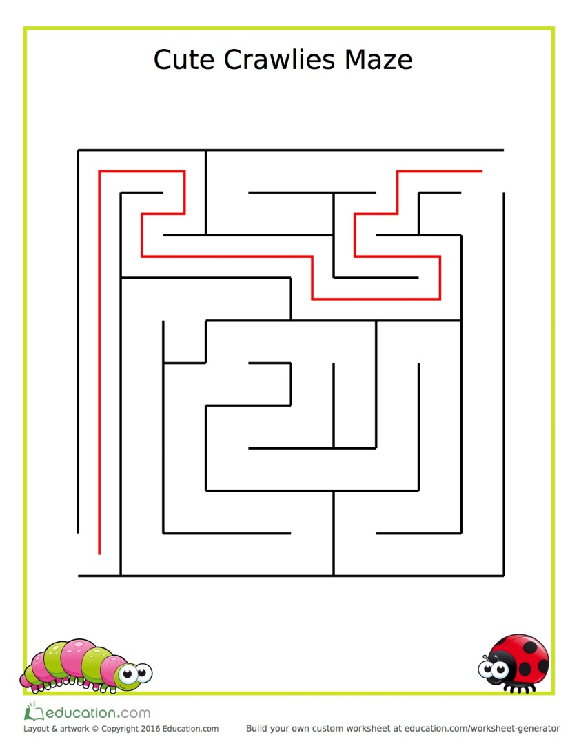 kindergarten_maze_crawlies_answers