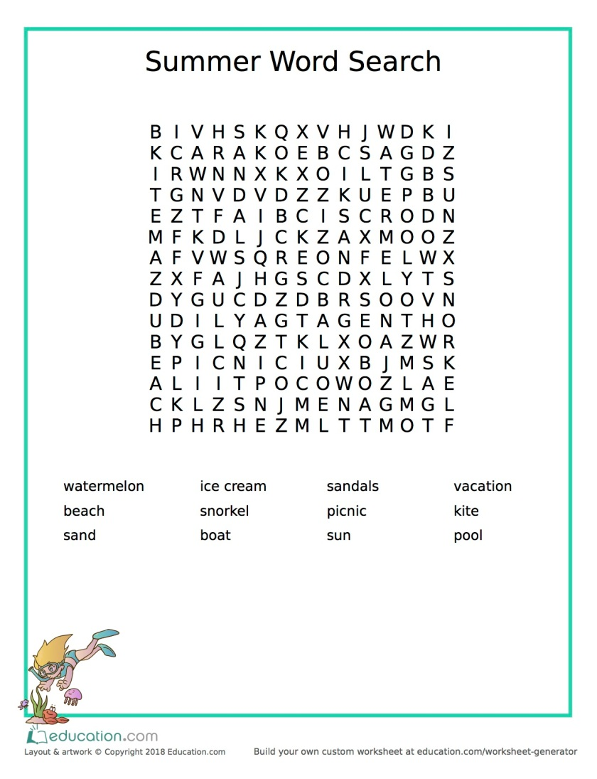 word search_snorkeling